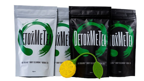 28 Day Detox Tea & Cleanse Tea Combo - DETOXMETEA - Free World Shipping, Detox Skinny Weightloss Tea