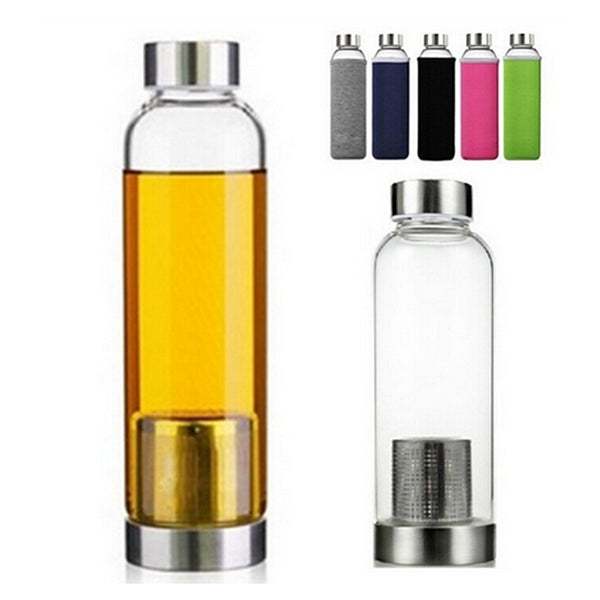 550ml Sports Glass Bottle Tea Infuser - BPA Free