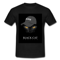 T-Shirt col rond « Black cat forever » - noir