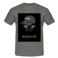 T-Shirt col rond « Black cat forever » - gris graphite