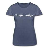T-Shirt col rond femme « Adopte une collègue » (F+F) - marine chiné