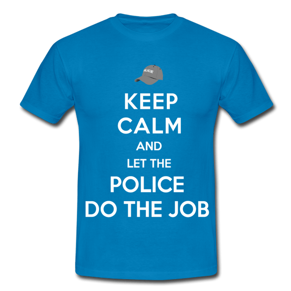 T-Shirt col rond « Keep calm Police » - bleu royal