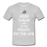 T-Shirt col rond « Keep calm Police » - gris chiné