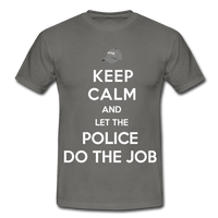T-Shirt col rond « Keep calm Police » - gris graphite