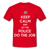 T-Shirt col rond « Keep calm Police » - rouge