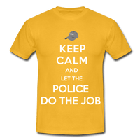 T-Shirt col rond « Keep calm Police » - jaune