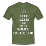 T-Shirt col rond « Keep calm Police » - vert militaire