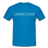 T-Shirt col rond « Undercover » simple - bleu royal