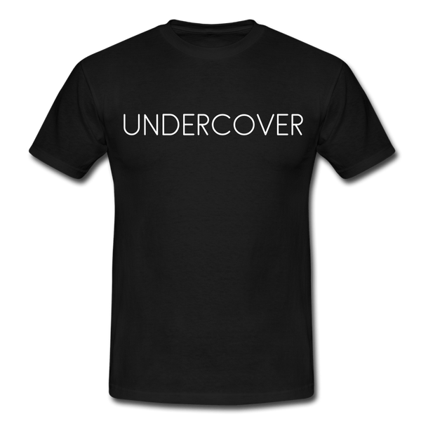 T-Shirt col rond « Undercover » simple - noir