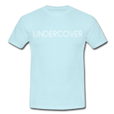 T-Shirt col rond « Undercover » simple - ciel