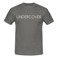 T-Shirt col rond « Undercover » simple - gris graphite