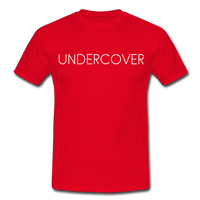 T-Shirt col rond « Undercover » simple - rouge