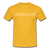 T-Shirt col rond « Undercover » simple - jaune