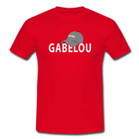 T-Shirt col rond « Gabelou » - rouge