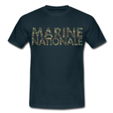 T-Shirt col rond « Marine nationale » camouflage - marine