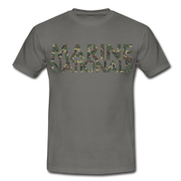 T-Shirt col rond « Marine nationale » camouflage - gris graphite