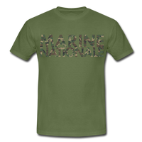T-Shirt col rond « Marine nationale » camouflage - vert militaire