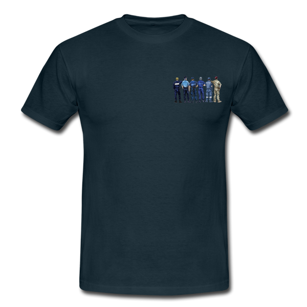 T-Shirt col rond « Frères d'armes » - marine