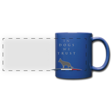 Mug « In dogs we trust » - bleu royal