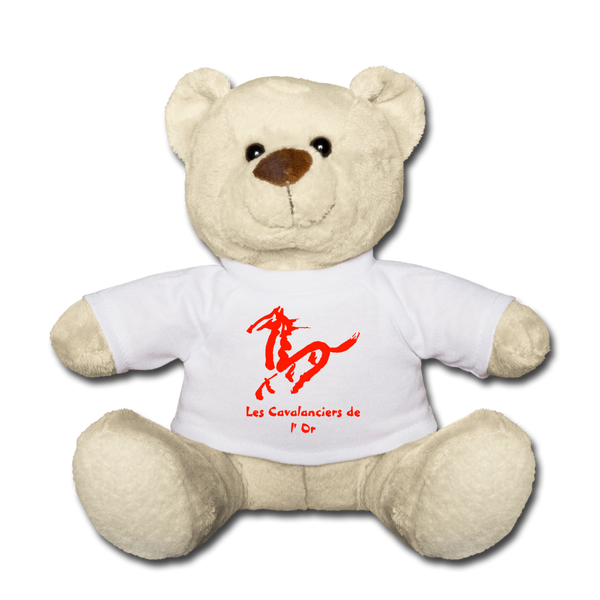 Teddy Bear « Les Cavalanciers de l'Or » max - blanc
