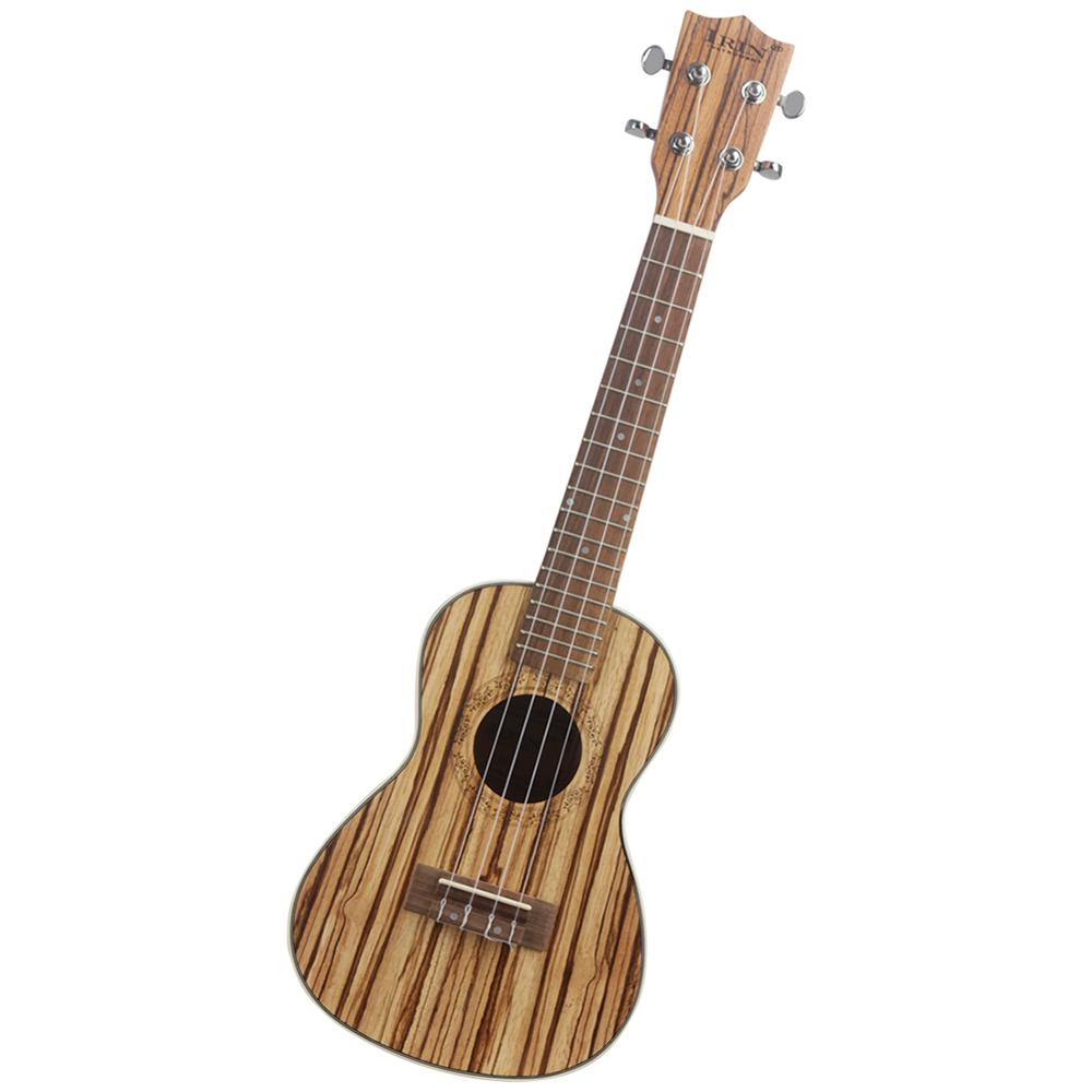 21 inch zebrawood Soprano Cartoon Ukulele Guitar send gifts Musical Stringed Instrument traditional style Mini Guitar Beginners (1PC)