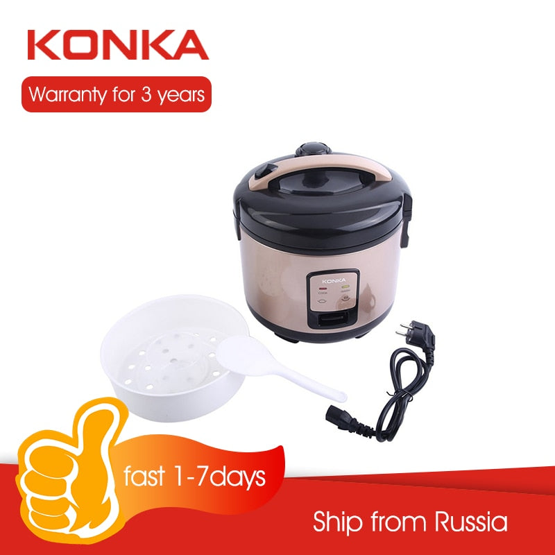 KONKA Hot Sell Rice cooker 1L Multicooker Kitchen Stainless Steel Electric cooker Kitchen Small Rice Cook Machine