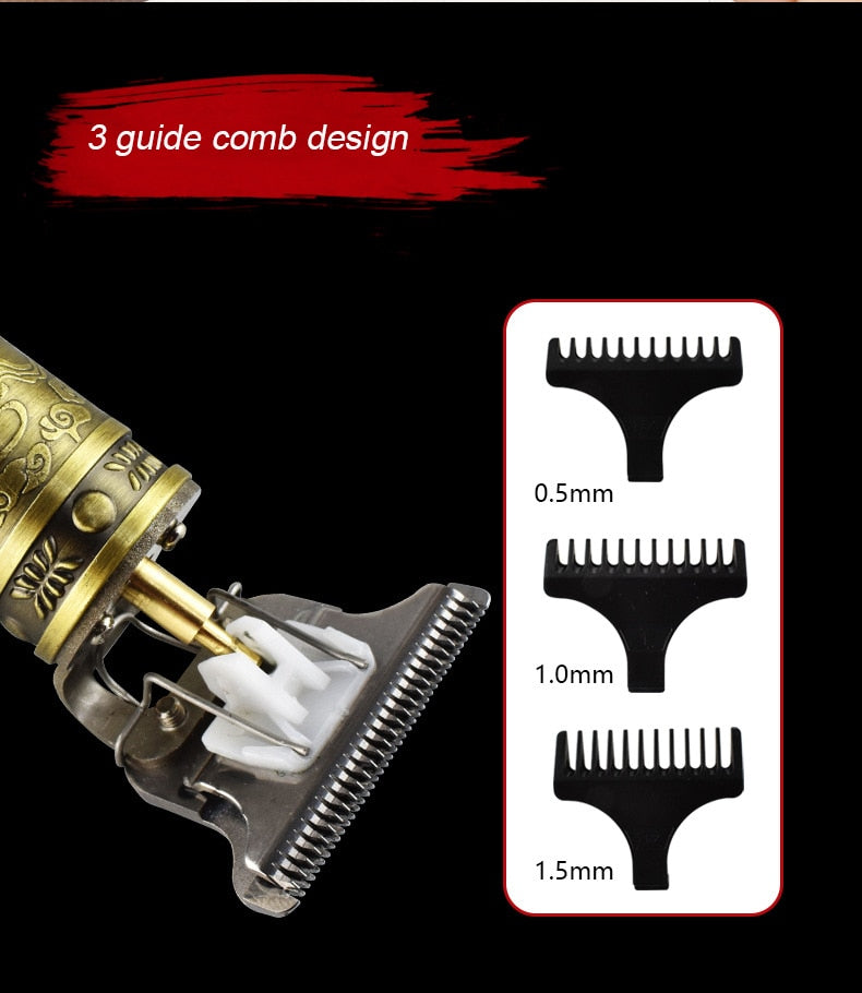 1 PC Electric Professional Tondeuse Mannen Liner Grooming Cordless Cutting T-Blade Oil Head Beard Trimmer Razor Set 2020-US HOT