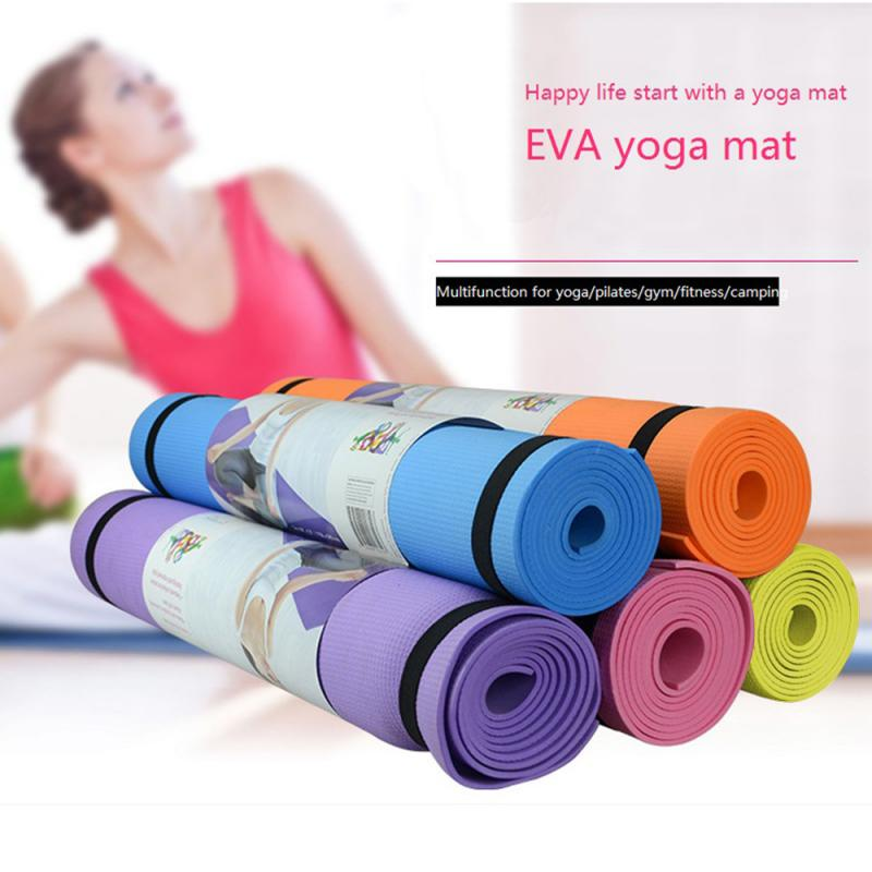 173*60*0.4cm Non-Slip Yoga Mat Sport Gym Soft Pilates Mats Fitness Pad Foldable for Body Building Fitness Exercises Equipment
