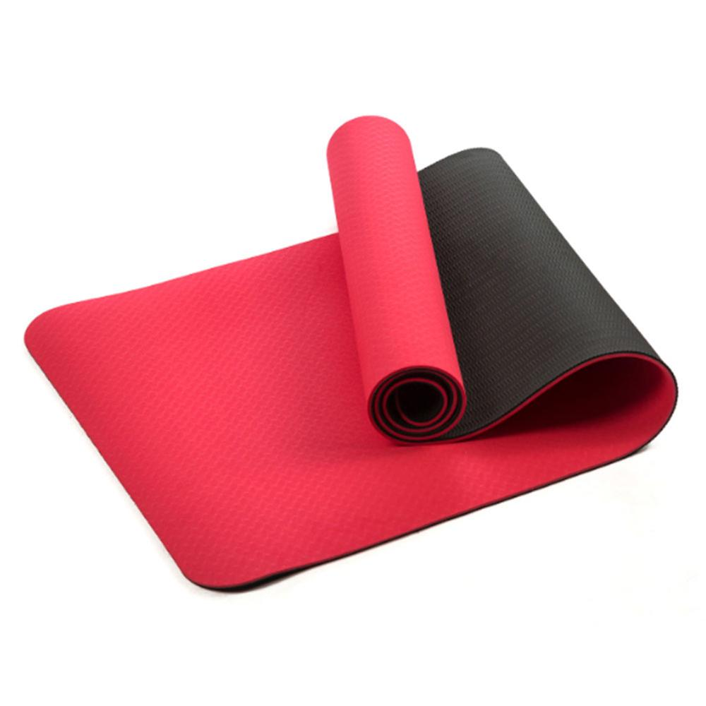6mm Thick TPE Two-color Yoga Mat Sports Mat Environment-friendly Tasteless Non-slip Fitness Outdoor Mat