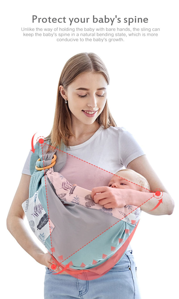 Baby Wrap Carrier Newborn Sling Dual Use Infant Nursing Cover Carrier Mesh Fabric Breastfeeding Carriers For 0-36M