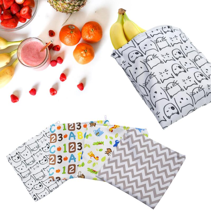 New 3pcs Travel Reusable Sandwich Bags Snack Bags Lunch Bags With Zipper Food Safe Free Eco Friendly Waterproof Bags