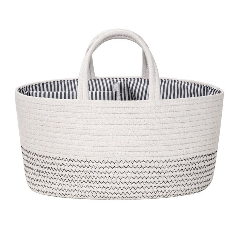 Baby Diaper Organizer Felt Basket Changing Nappy Kids Storage Box Carrier Bag Fashion Multifunctional Mummy Bag Baby Diaper Bag