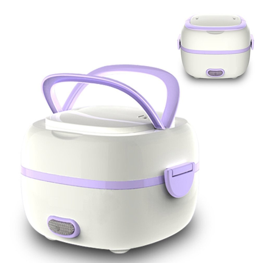 Multifunctional Electric Heating Lunch Box Mini Rice Cooker Portable Food Steamer Heat Preservation Electronic Lunch Kitchen Box