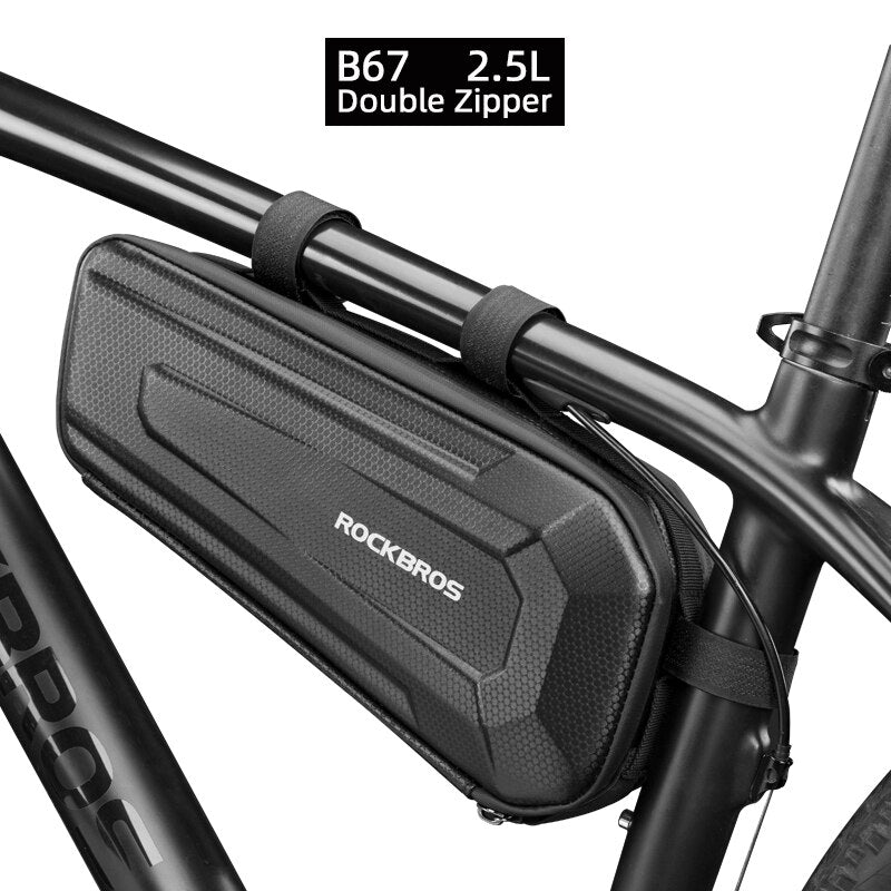 ROCKBROS Bike Bicycle Bag Rainproof Large Capacity MTB Road Frame Bag Triangle Pouch Waterproof Caulking Bag Pannier Accessories