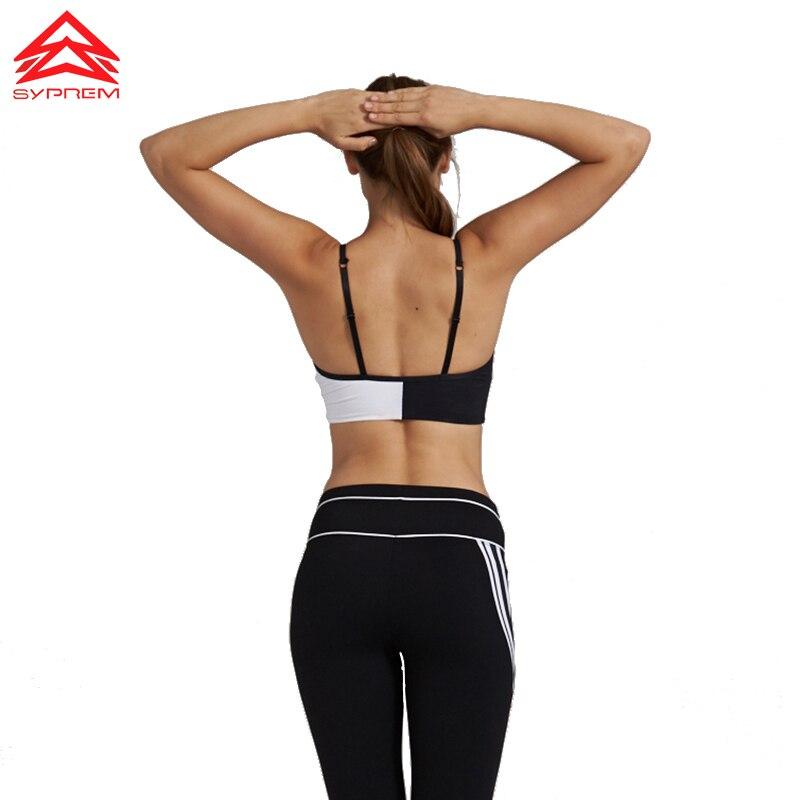 SYPREM New Yoga Sports Bras Women Running Fitness sportswear Shockproof Push Up Sexy Vest Removable cup Adjustable sling,1FT0874