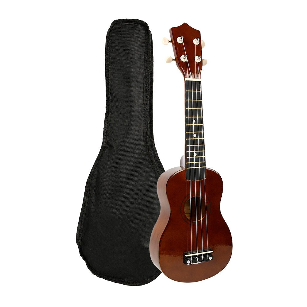 21inch Ukulele Burlywood Brown Hawaii Bass Stringed Musical Instrument Guitar Sapele 4 Strings Hawaiian Spring Beach Vacation