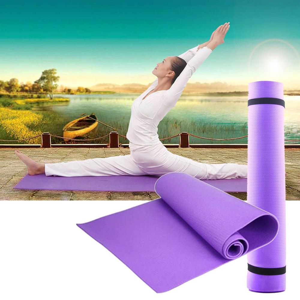 Yoga Mat -skid Sports Fitness Mat 6MM Thick EVA Comfort Foam Yoga Mat for Exercise, Yoga, and Pilates