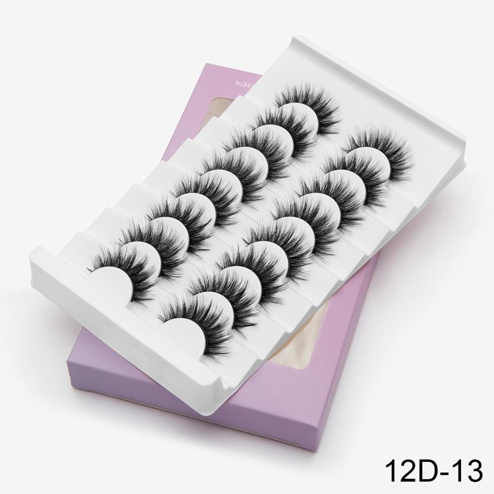 20 Pairs Faux Mink False Eyelashes Wispy Criss-cross Fluffy Thick Natural Handmade Lash Eye Makeup Beauty Extension Tools