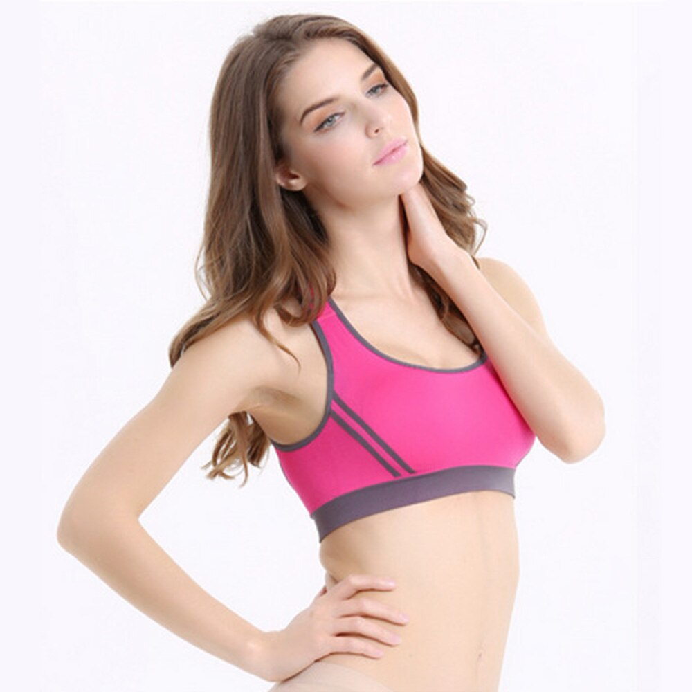 Women's Sports Bra Stretchy Padded Back Crossed Female Sports Underwear Women Seamless Elastic Gather Running Yoga Underwear D30