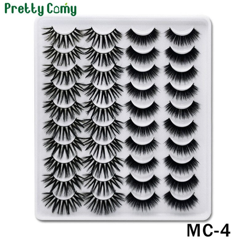 Recommend 20 Pairs Dramatic 3D Fake Eyelashes Lashes Volume Eyelashes Extension False Eyelashes