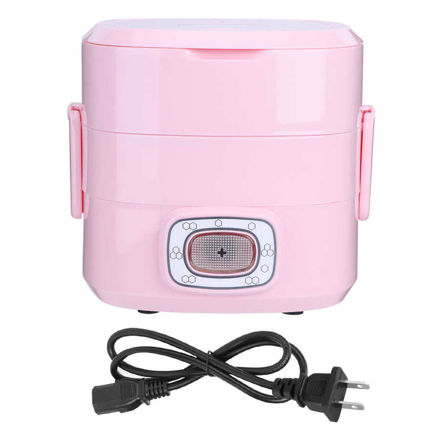 250W 1.5L ABS Electric Rice Cooker Heating Lunch Box Food Container Warmer  for Home Office School Use 110V/220V
