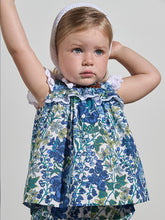 Load image into Gallery viewer, BABY GIRL BLUE COTTON DRESS & KNICKERS