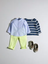 Load image into Gallery viewer, LIGHT BLUE STRIPED SHIRT FOR BABY BOYS