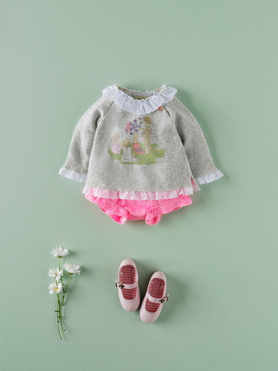 BABY GIRL  GRAY SWEATER