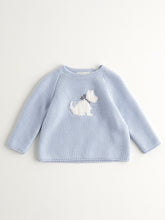 Load image into Gallery viewer, BABY BOY LIGHT BLUE KNITTED JUMPER