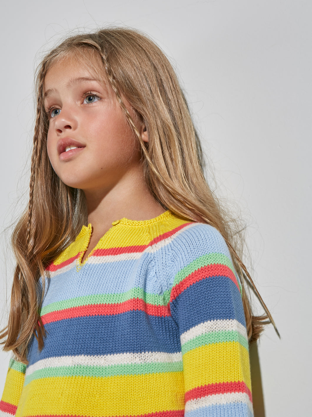 KNITTED COLOURFUL JUMPER FOR GIRLS
