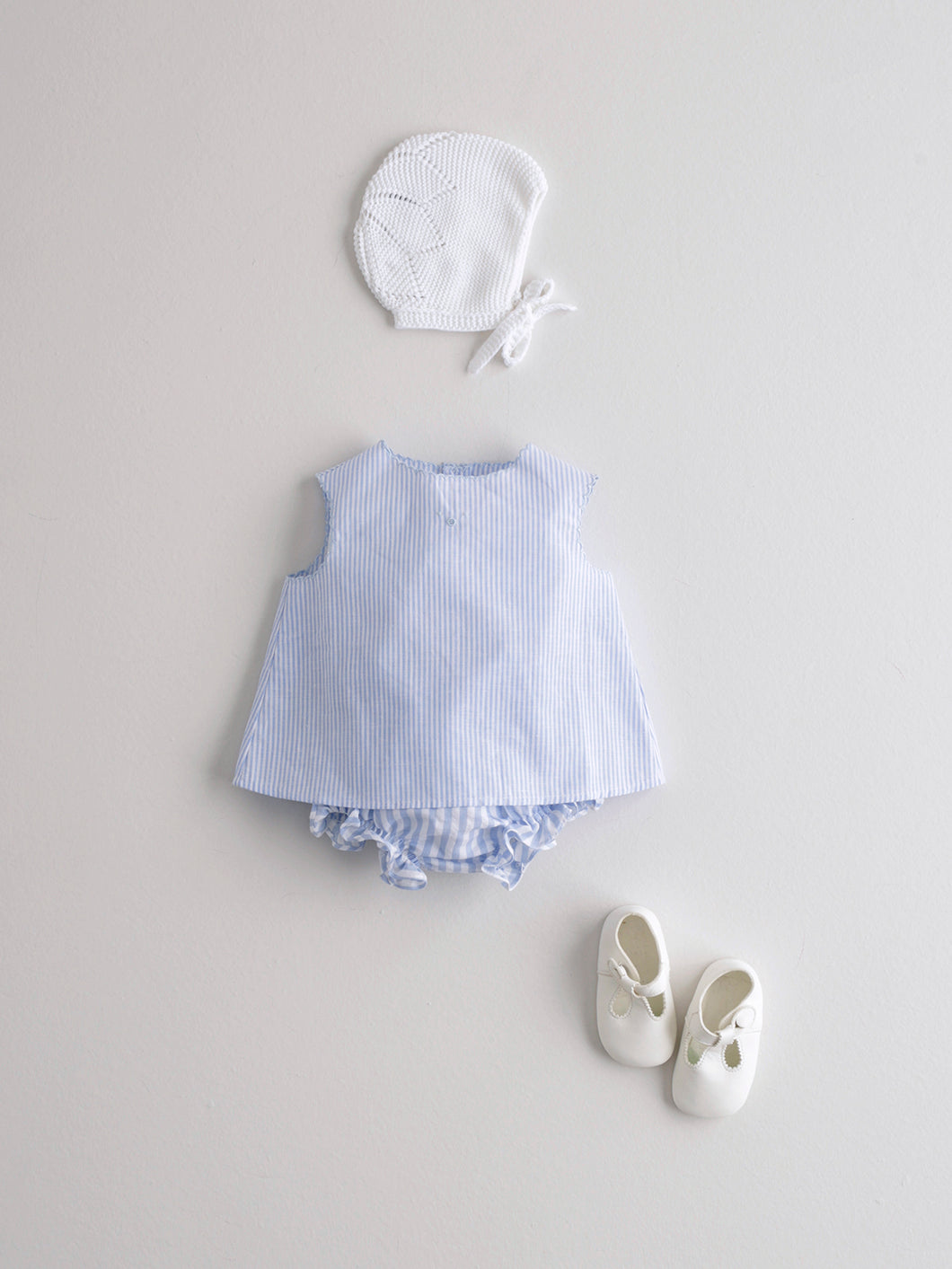 BABY BLOUSE WITH BLUE STRIPES