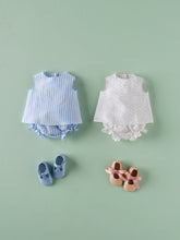Load image into Gallery viewer, BABY BLOUSE WITH BLUE STRIPES