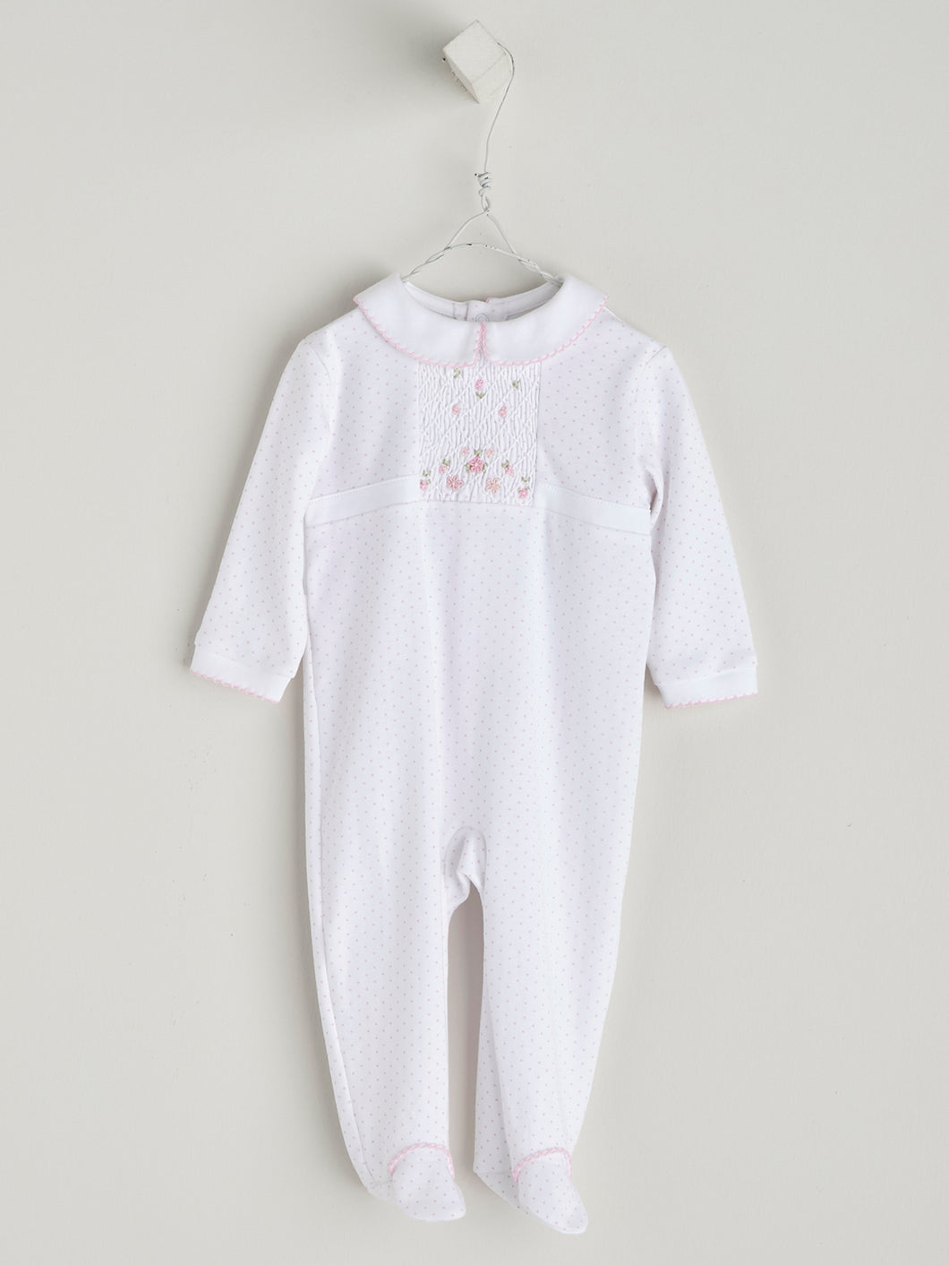 BABY COTTON PYJAMA WITH PINK DETAILS