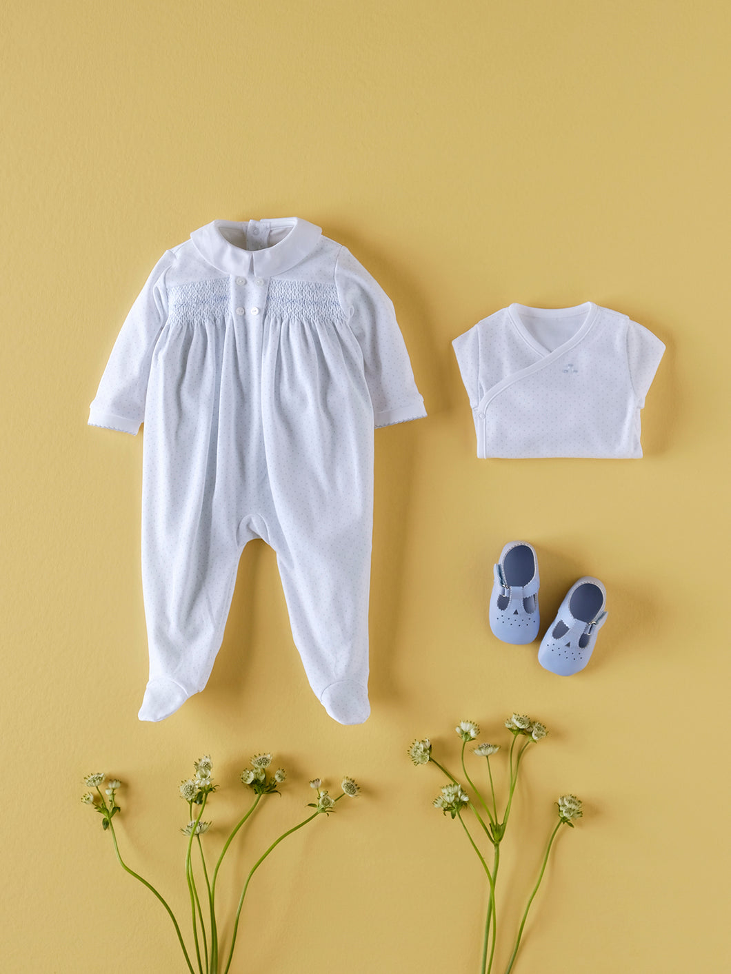 BABY COTTON PYJAMA IN WHITE